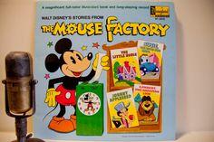 "Vintage Vinyl Childrens Record : Walt Disney's  ""Mouse Factory""(Original 1972 Disneyland Records w full color illustrated book)"