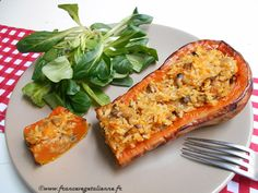 Stuffed butternut squash (vegan, vegan) - My WordPress Website No Salt Recipes, Milk Recipes, Veggie Recipes, Crockpot Recipes, Vegan Recipe Ingredients, Vegan Vegetarian, Vegetarian Recipes, Plat Vegan, Vegan Comfort Food
