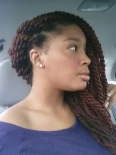 """Havana twists. I like how these don't have a """"scalpy"""" look to them and it doesn't look like there's a lot of stress on her edges."""