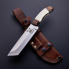 D2 // Walnut + Bone Tanto Bushcraft Hunter