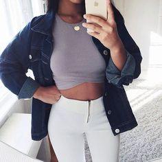 fashion, style, and girl Bild