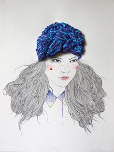 Illustration et broderie par Izziyana Shuaimi | Le Blog du Kitsch
