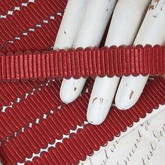 1y Antique FRENCH RUST PASSEMENTERIE TRIM Pillow Lampshade Vtg Doll Millinery Ha