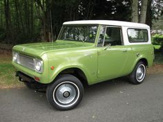 This was my first car.  Intl Harvester Scout II - mine was Sky Blue and I ran it until it literally fell apart at 175k