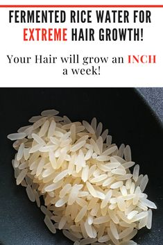 Looking for faster hair growth? Rice water is what you've been missing in your routine that will give you longer, stronger and faster growing hair! Ways To Grow Hair, Grow Natural Hair Faster, Hair Growing Tips, Natural Hair Growth Tips, Help Hair Grow, Extreme Hair Growth, Longer Hair Faster, How To Grow Your Hair Faster, Grow Long Hair