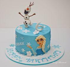 Die Eiskönigin Torte -  Frozen cake