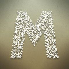 ✍ Sensual Calligraphy Scripts ✍ initials, typography styles and calligraphic art - Botanical Alphabet on Behance Arte Quilling, Quilling Letters, Paper Quilling Designs, Quilling Paper Craft, Paper Crafts, Paper Letters, Origami, Quilled Creations, Letters And Numbers