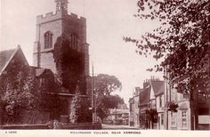 A lovely old photo from Hillingdon Village, in Middlesex UK London Bus, London Life, West London, Middlesex England, English Village, West End, Vintage Postcards, Empire State Building, Old Photos