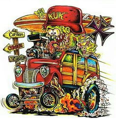 Love the artwork of Ed Roth. This is my place for Rat Fink, Roth Art and others that are Roth like. Any Rat Rod style art as well Rat Fink, Caricatures, Ed Roth Art, Cartoon Rat, Retro, Garage Art, Lowbrow Art, Car Drawings, Automotive Art