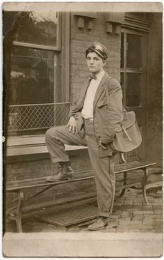 Handsome Young Guy Mailman Uniform Fashion Hat Vintage Photo Postcard | eBay