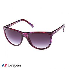 Womens Le Specs Sweet Deposition Sunglasses Purple Tort