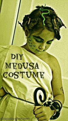 Cheap DIY Medusa Costume and Makeup Tutorial