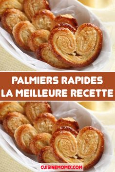 Palmiers rapides : la meilleure recette Palmiers rapides : la meilleure recette ,Toutes Recettes The easy and inexhaustible recipe for homemade palm cookies! With a quick puff pastry in 10 minutes and well caramelized. Kinds Of Desserts, Easy Desserts, Delicious Desserts, Biscuits Palmier, Appetizer Recipes, Dessert Recipes, Good Food, Yummy Food, Sandwich Cake