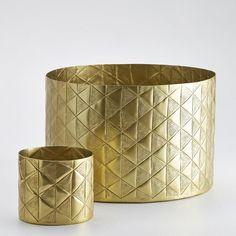 La Redoute brass planters. LG: Ø35cm x H25cm £49/£29 SML: Ø17cm x H17cm £29/£17