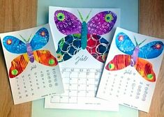 Eric Carle inspired. Butterfly. Painted paper.   Náš kalendár.  JÚL.  #ericcarleinspired #calendar #july #kidscrafts #tvoreniesdetmi #tvorivedielne #paintingwithkids #artprojectforkids… Eric Carle, Painted Paper, Art Projects, Crafts For Kids, Calendar, Butterfly, Painting, Inspiration, Instagram