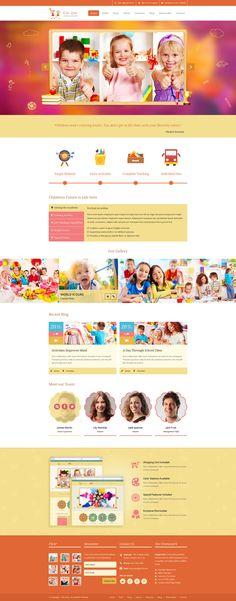 Kids Zone | Childern PSD #psd #schools #baby • Download ➝ https://themeforest.net/item/kids-zone-childern-psd/6448823?ref=pxcr