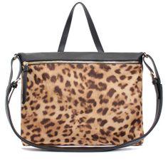 Leather Crossbody Bag Leopard Shoulder Bag at doozybag.com