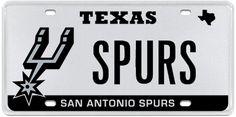 Luxury Series Passenger Plate:   San Antonio Spurs