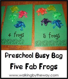 Preschool: Counting Frogs Activity