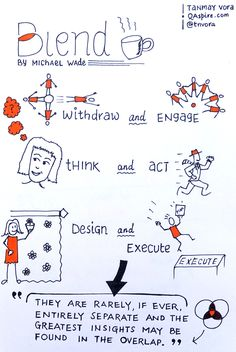 #Sketchnote: Blends, by Michael Wade @execupundit – By Tanmay Vora