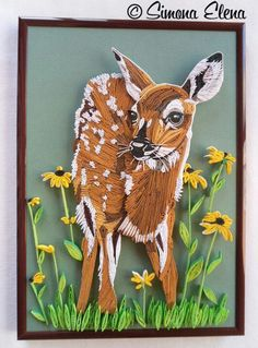 Beautiful quilled Fawn