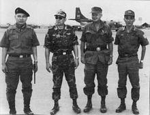 (l-r) Lt. Gen. Hoàng Xuân Lãm, I Corps; Gen. Cao Văn Viên; Lt. Gen. Richard G. Stilwell; Maj. Gen. Ngô Quang Trưởng
