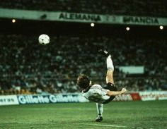 France 3 West Germany 3 (4-5 p) in 1982 in Seville. Incredibly, Klaus Fischer equalises on 108 minutes for Germany and its 3-3 in the World Cup Semi Final.