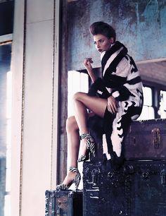 alina baikova model8 Alina Baikova is Fashionable in Fur for Fashion Shoot by Chris Nicholls