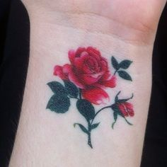 Rose on wrist with no outlines <3