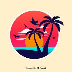 Palm Tree Background, Beach Background, Pastel Background, Background Banner, Background Patterns, Summer Backgrounds, Abstract Backgrounds, Retro Surf, Summer Banner