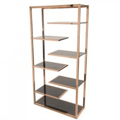 Guido Black Glass and Rose Gold Display Cabinet | 6000010-NPD | New Pacific Direct - Truth In Craft