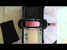 How to use a stencil as an embossing folder in the Big Shot.