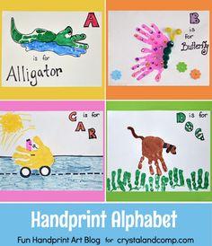 Handprint Alphabet Art
