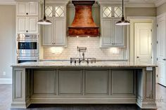 Stonecroft Homes - kitchens - distressed gray cabinets, traditional gray cabinets, glazed gray cabinets, granite counters,
