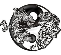 Tribal 2 5 X 4 Inches 1 10 Each Anti6 White Tiger Dragon Yin Yang 3