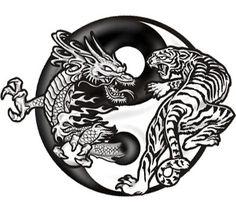 Tribal 2 5 X 4 Inches 1 10 Each Anti6 White Tiger Dragon Yin Yang 3