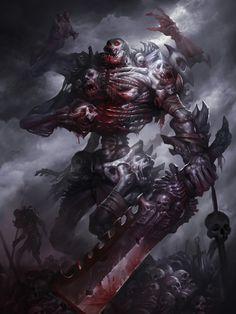 Solomon's corpse, Hua Lu on ArtStation at https://www.artstation.com/artwork/3NJng