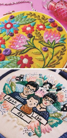 Embroidery art // hoop art // hand embroidery