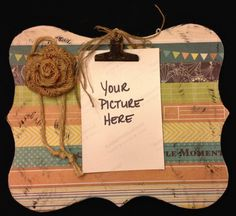 """4"""" x 6"""" Striped Clipboard Picture Frame"""
