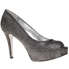 Nine West Camya - Add glamour to your occasional wardrobe with this pair of peep toe shoes from Nine West. Closed Toe Shoes, Peep Toe Shoes, Shoes Sandals, Heels, Sparkle Shoes, Shoe Closet, Wedding Shoes, Wedding Dress, Holiday Dresses