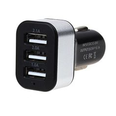 Besde Car ChargerCar Universal 12V 3Port USB DC Charger Adapter For iPhone Cellphone Silver -- Continue to the product at the image link. Note: It's an affiliate link to Amazon.
