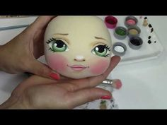 Youtube Dolls, Diy Toys Doll, Doll Face Paint, Eye Painting, Flower Pillow, Doll Eyes, Sewing Dolls, Doll Tutorial, Flower Fairies