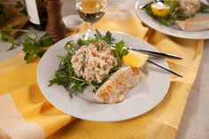 ... zemiakový šalát s rybou je skvelá kombinácia., #Recepty #Šaláty #Video Table Decorations, Home Decor, Homemade Home Decor, Decoration Home, Room Decor, Interior Design, Home Interiors, Dinner Table Decorations, Interior Decorating