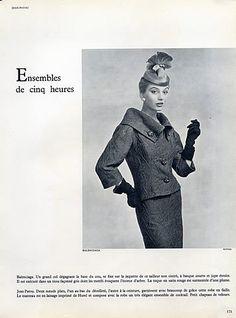 1954 - Balenciaga suit by Philippe Pottier,