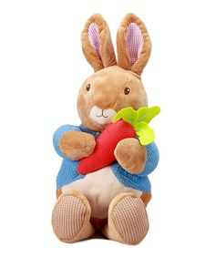 Take a look at this Kids Preferred - Musical Peter Rabbit Plush Toy on zulily today!