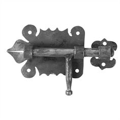 """Forged Steel Barrel Bolt. 1/4"""" Thick, 3-9/16"""" W, 2-3/8"""" H, .33 lbs"""