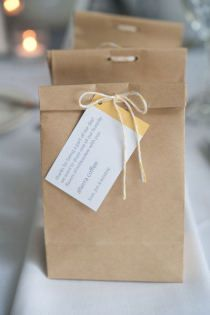 Cute simple bags -- stamp a tag and tie with baker's twine!