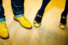 Some dapper shoes from bow tie designer Eliot Payne and interior design guru Anna. Photo by GoKateShoot