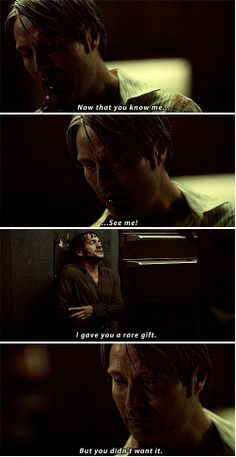 """I gave you a rare gift. But you didn't want it."" Hannibal 2x13 Mizumono"