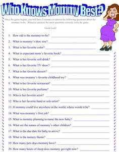 Baby shower games - Google Search